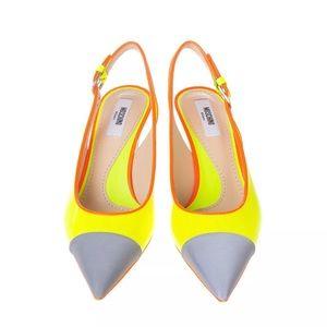 Moschino bright color cone heel pumps